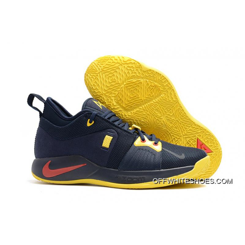"7201be436a72 Nike PG 2 ""Cavs"" Deep Navy Yellow-University Red Best ..."