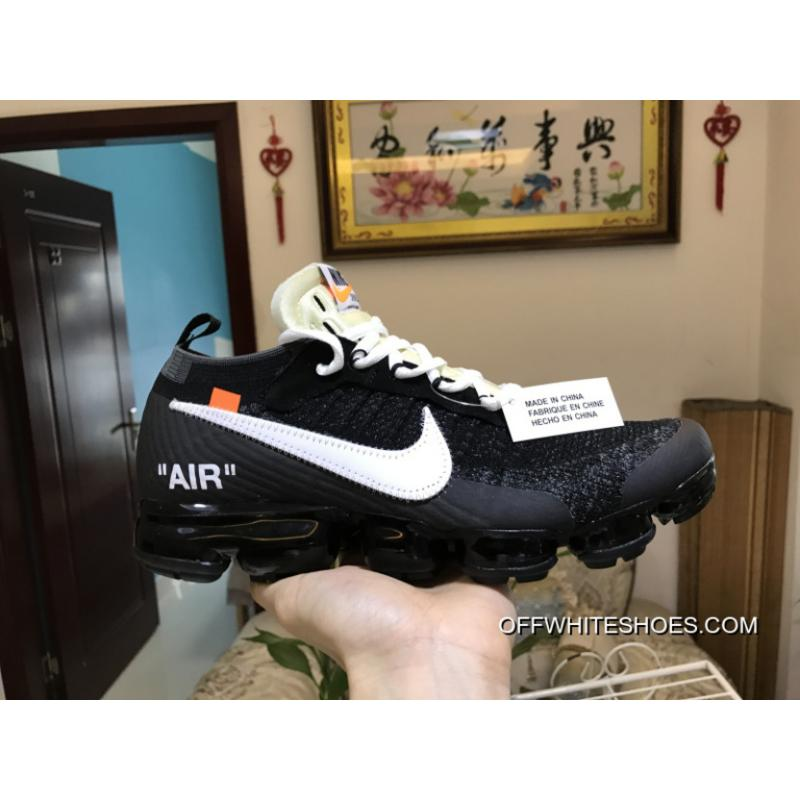 Men OFF WHITE X Nike Air VaporMax 2018 Flyknit Running Shoes SKU154665207 For Sale