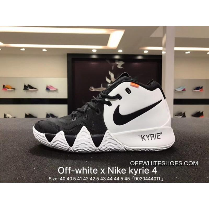 size 40 e62a8 162d3 Nike Off-White Kyrie 4 X 18 Spring Ep Irving Creative To Be Customized Men  Basketball Sport Shoes Combat Weapon At Light Field Coding Air Jordan 16 91  ...