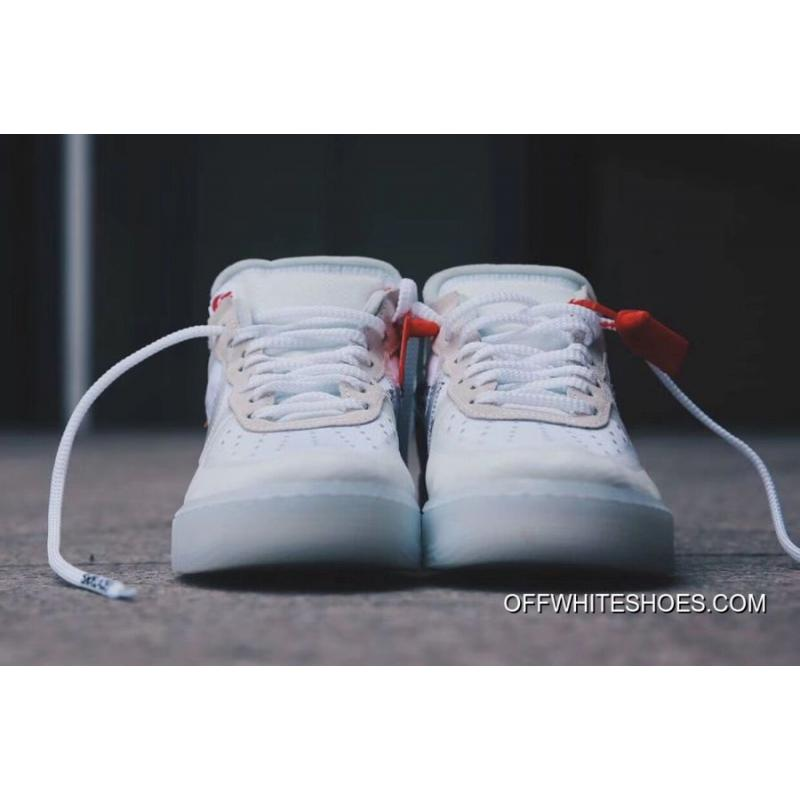 """b699cf927789 ... OFF-WHITE X Nike Air Force 1 Low """"Ghosting"""" White-Sail Discount ..."""