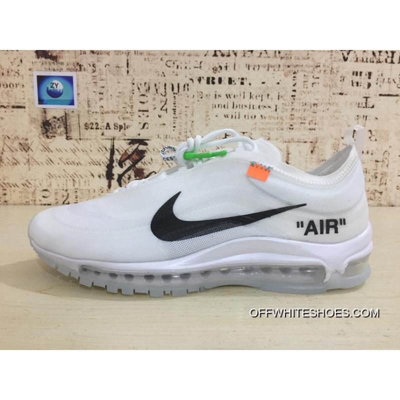 Nike 97 Be Publishing OFFWHITE Air Max 97 Retro X Zoom Jogging Shoes Authoritative Real Picture Difference Error Transparent Version Virgil Abloh Designer Independent Brand Super Limited Size For Sale