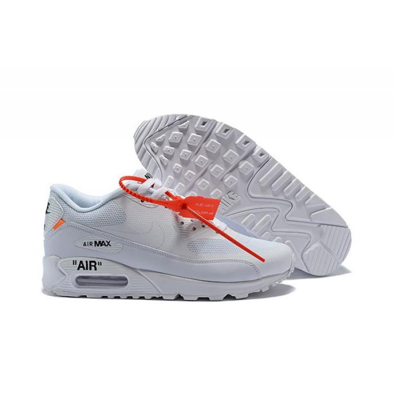 Men OFF WHITE X Nike Air Max 90 Running Shoes SKU:47571 310 Best