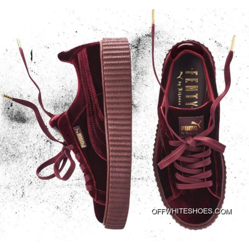 timeless design dc86c 987fd Puma By Rihanna Suede Creepers Burgundy Outlet