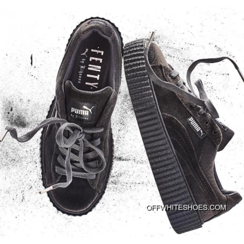 1365544b1e2e18 Puma By Rihanna Suede Creepers Grey Discount ...