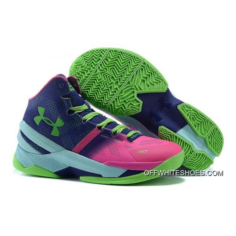 "premium selection b39a6 a9e6b Under Armour Curry 2 ""Northern Lights"" Rebel Pink/Purple Panic-Poison Green  New Release"
