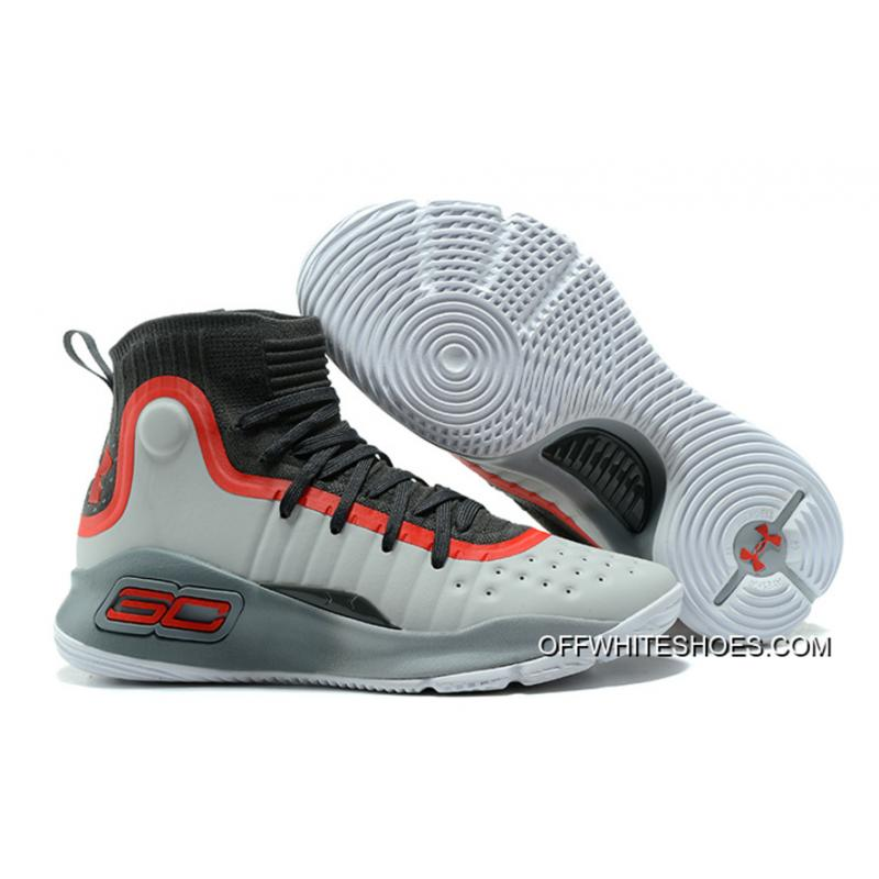 Under Armour Curry 4 Cool Grey/Black-Red Free Shipping ...