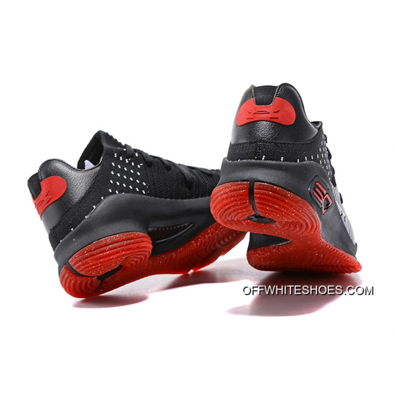... Super Deals Under Armour Curry 4 Low Black/Varsity Red-White ...