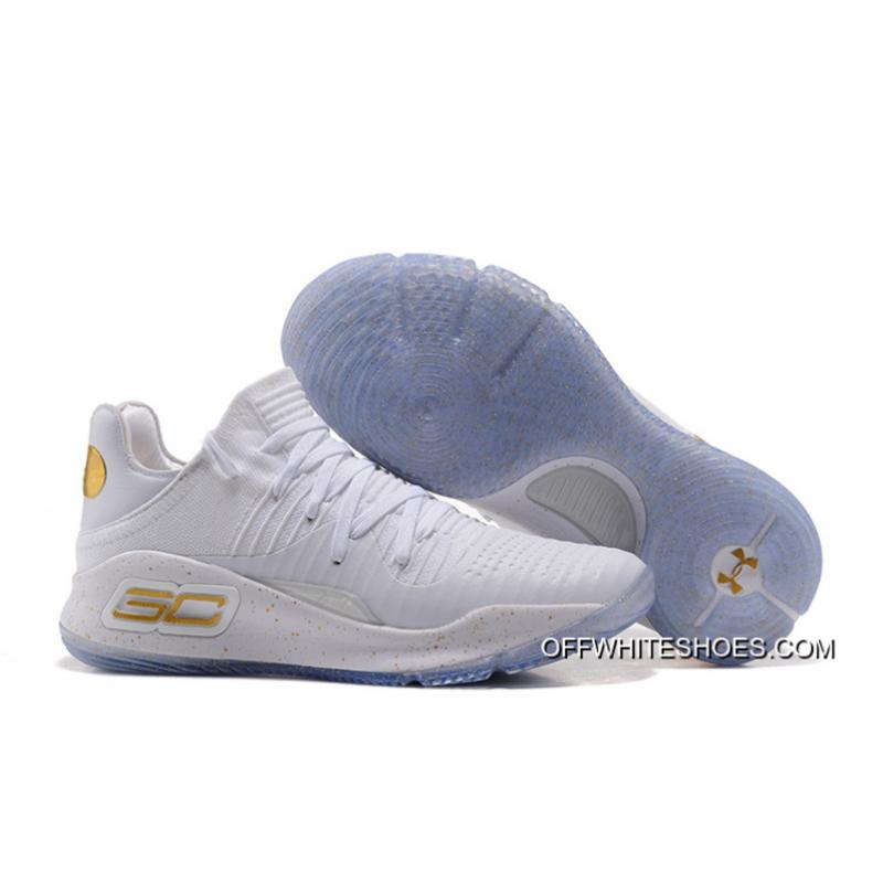"""ab0d7fe85186 Copuon Under Armour Curry 4 Low """"Chef White"""" White Gold ..."""