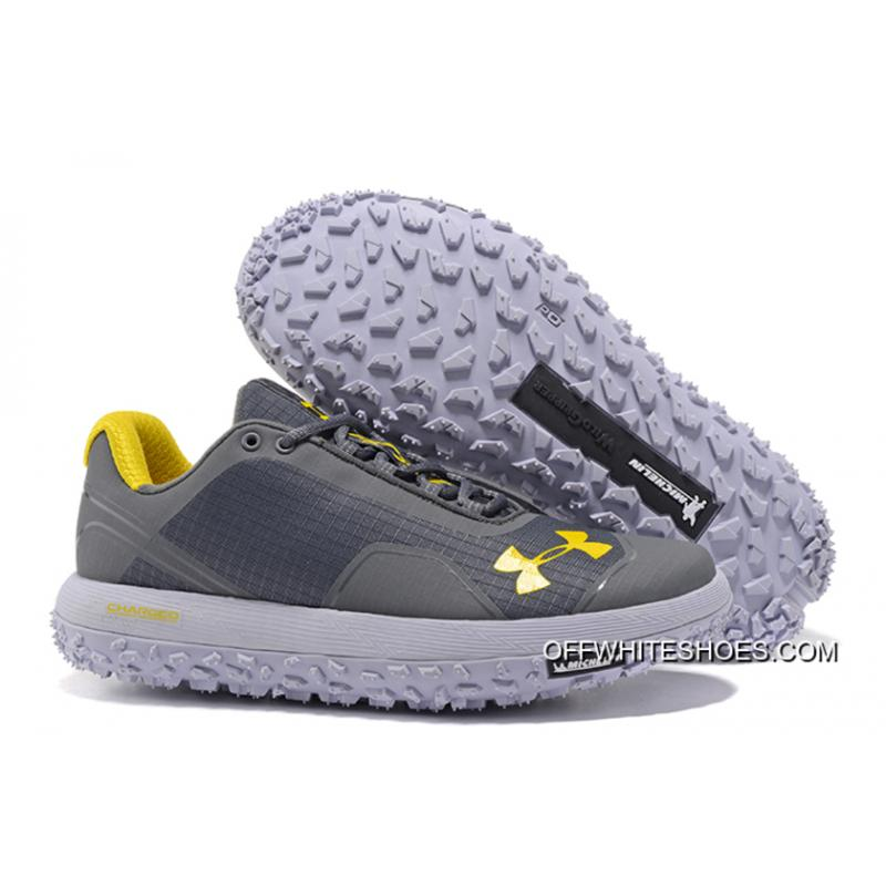 sale retailer bc3bb 43fa8 Top Deals Under Armour Fat Tire Low Grey Yellow Running Shoes