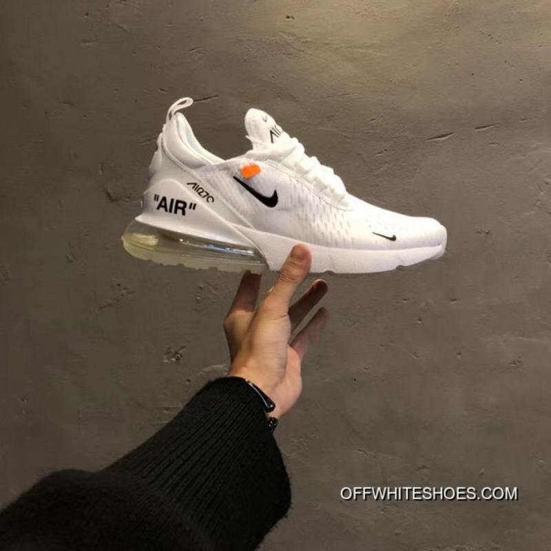 Women Off White X Nike Air Max 270 Sneakers SKU:130785 230 Best