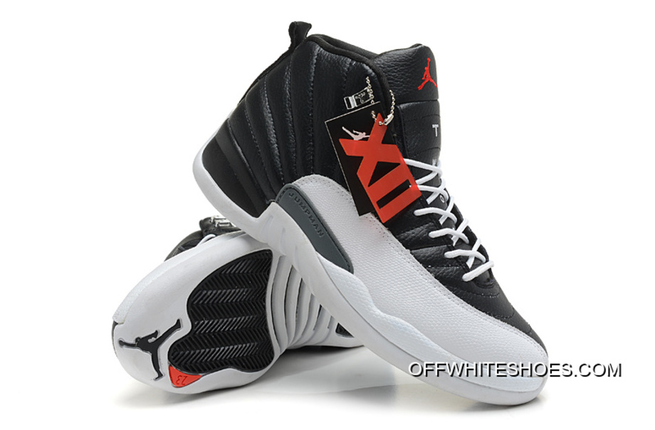 "e582aa54bb5f07 Nike Air Jordan 12 Retro ""Playoffs"" Black White-Varsity Red New Release"