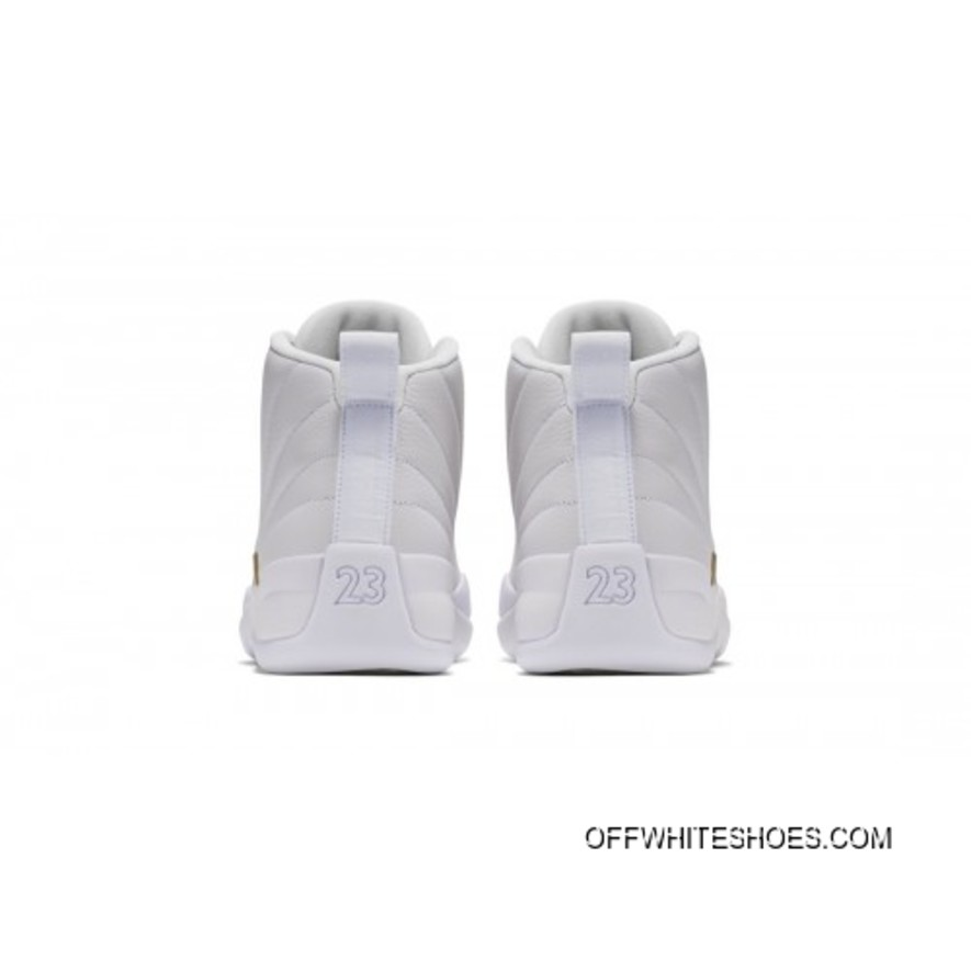 finest selection 8a2d0 bad9e Top Deals Authentic Air Jordan 12 Retro X OVO White Metallic Gold-White  873864