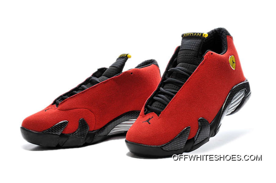 "69f6fcc93c2f Air Jordan 14 ""Ferrari"" Chilling Red Black Vibrant Yellow Free Shipping"