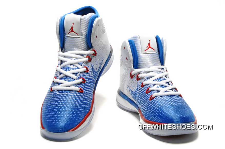 "online store 2d9f8 01b75 Air Jordan XXXI ""Olympics"" USA White Deep Royal Blue University Red 2018  New Release"