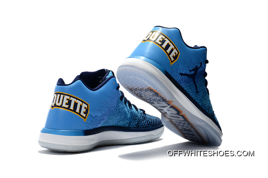 "on sale 64c47 f19c0 New Release Air Jordan XXXI Low ""Marquette"" University  Blue Amarillo-Midnight Navy"