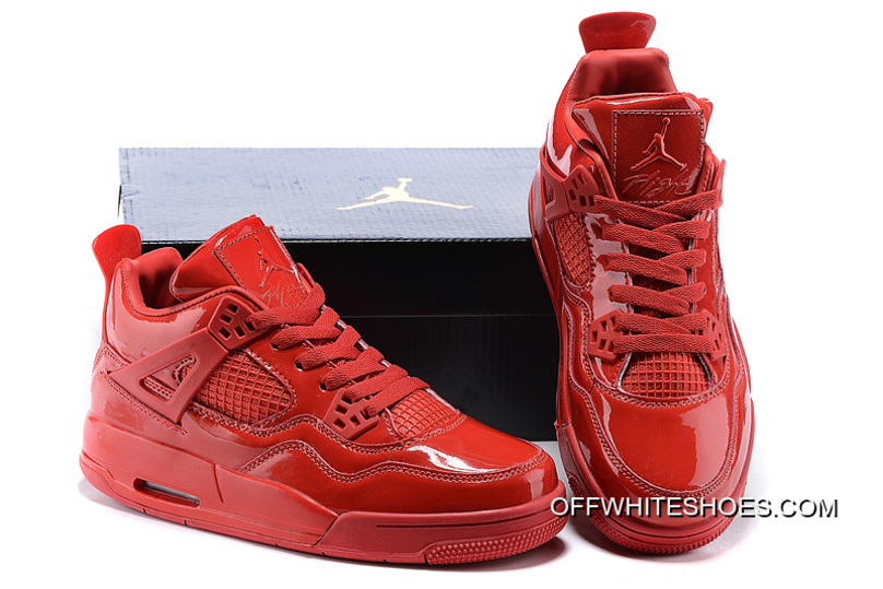"""reputable site 93e99 87bd6 New Air Jordan 4 Retro 11Lab4 """"Red Patent Leather"""" Discount"""