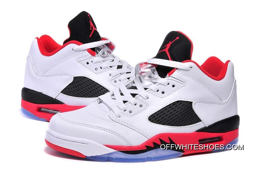 """uk availability 57490 dd7bd Top Deals Air Jordan 5 Low """"Fire Red"""" White/Fire Red-Black"""