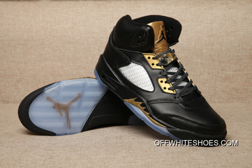 the best attitude 63d8c 0467a New Style Air Jordan 5 Olympic Black/Metallic Gold