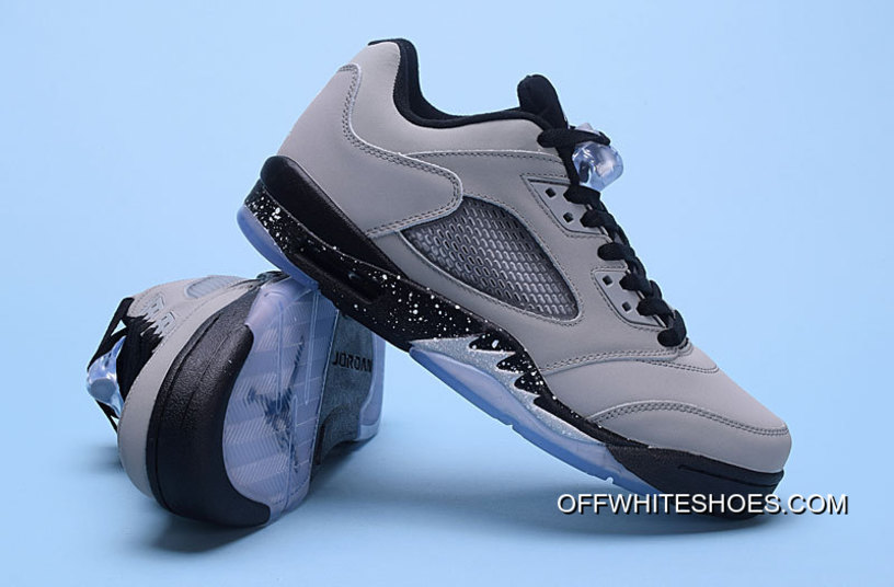 "93a356d1c785 Air Jordan 5 Low ""Wolf Grey"" Wolf Grey Black-Black Off-White Online ..."
