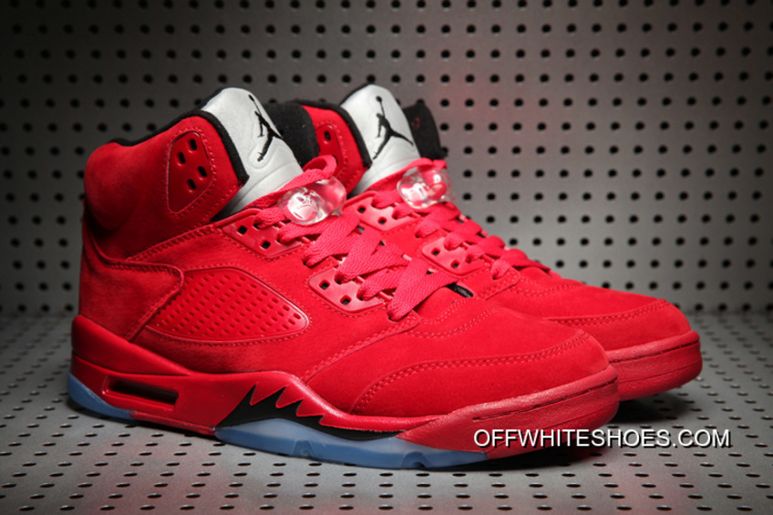 "the latest e58ea 4456c For Sale Air Jordan 5 ""Red Suede"" University Red Black"