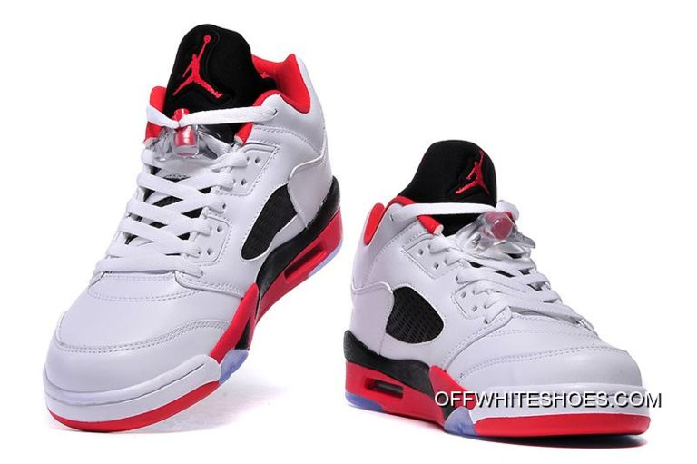 """the best attitude 0d5b4 fa358 Latest Air Jordan 5 Low """"Fire Red"""" White/Fire Red-Black"""