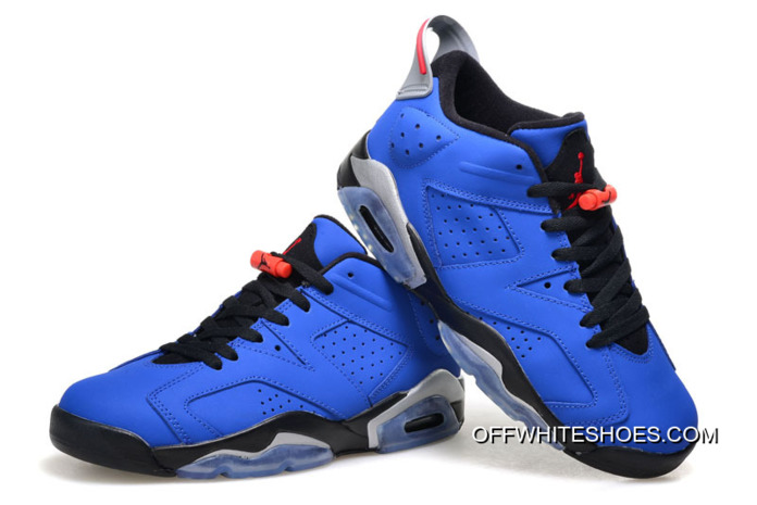 "85f17f39bf1440 New Air Jordan 6 Low ""Eminem"" Blue Black Grey Super Deals"