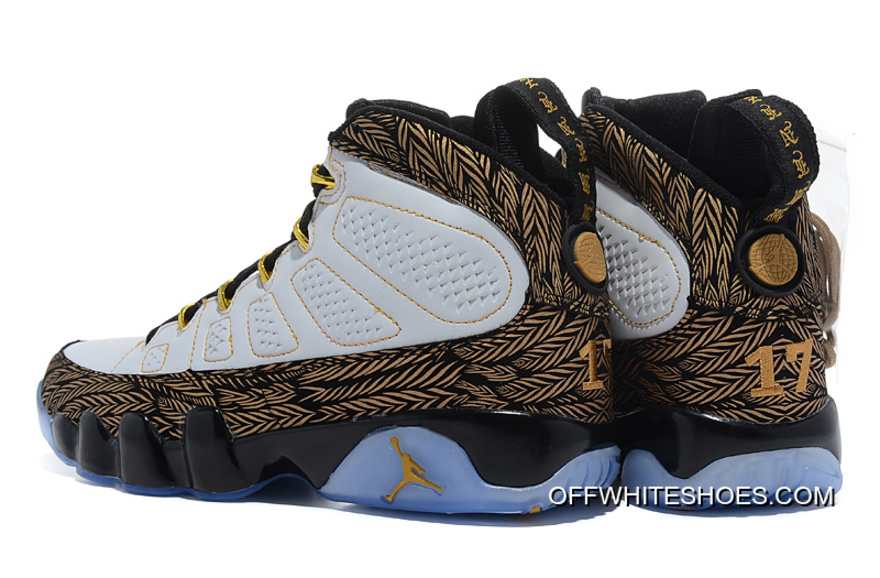 "dbd217ae576e New Air Jordan 9 ""Doernbecher"" White Metallic Gold-Black Super Deals ..."