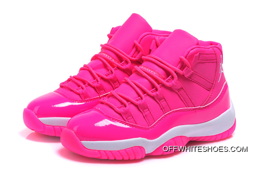 """official photos c78d1 12b51 Off-White For Sale Air Jordan 11 GS """"Pink Everything"""" Pink White Shoes"""