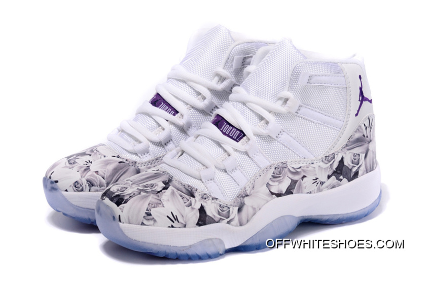 "a5e7280deaf Latest Air Jordan 11 GS ""Floral Flower"" White Purple, Price: $87.66 ..."