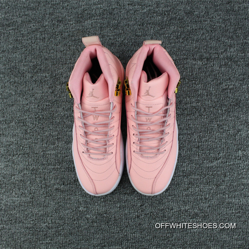 "cheaper 1e580 ecca9 Air Jordan 12 GS ""Pink Lemonade"" Pink/White-Gold Top Deals"
