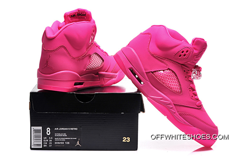 new arrival 54c52 e4d15 Air Jordan 5 GS All-Pink Shoes Off-White Discount