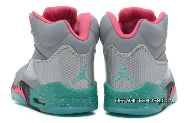 "3960cec8b528 Discount New Air Jordan 5 GS ""Miami Vice"" Grey Teal-Pink"