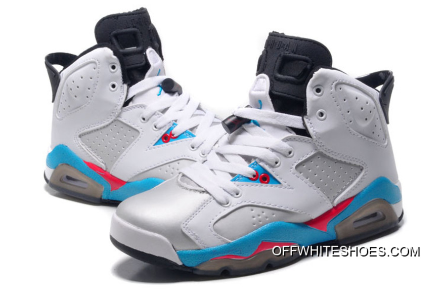 b1e0c6b42aa new air jordan 6 gs white blue red for sale