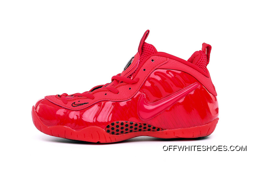 Discount Girls Nike Air Foamposite Pro GS Gym Red