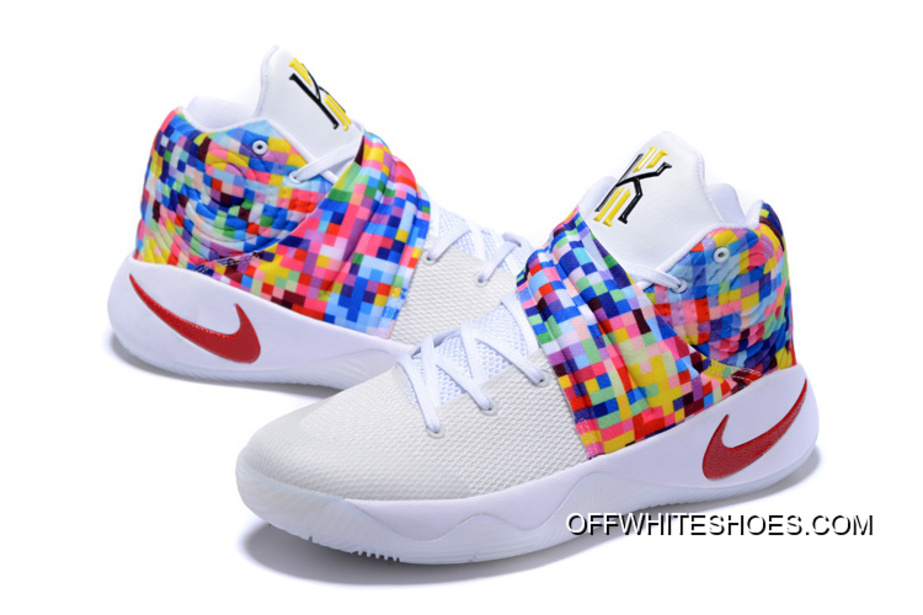 "c07c90e13e22 Girls Nike Kyrie 2 ""Effect"" White-Red Multi-Color New Release"