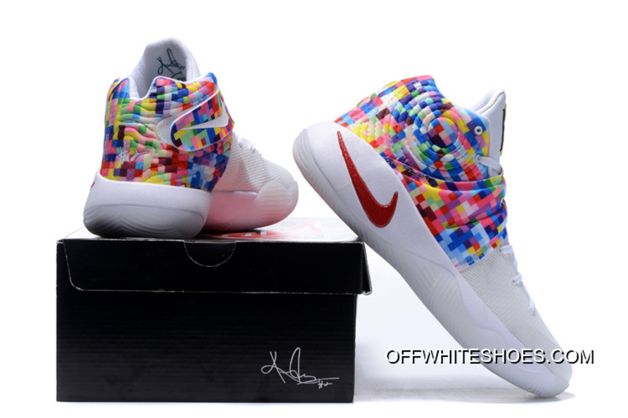 """b3c7de70327d Girls Nike Kyrie 2 """"Effect"""" White-Red Multi-Color New Release"""