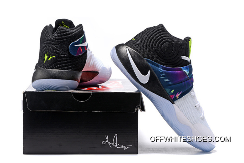 """ee027be7558 Girls Nike Kyrie 2 """"Parade"""" White White-Black-Volt New Release ..."""