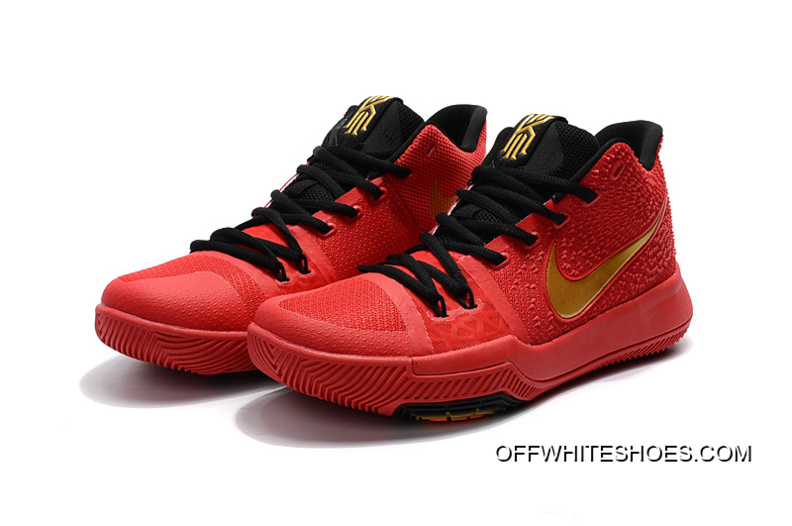 f3aabb0b8266 Girls Nike Kyrie 3 Red Black Gold Off-White Discount