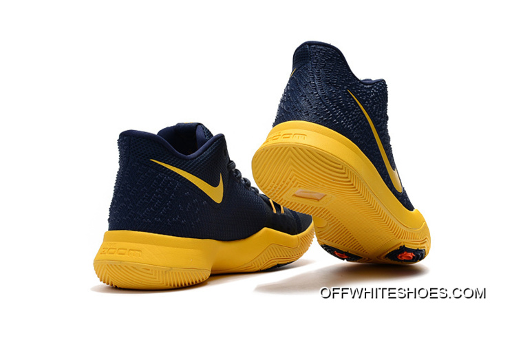 "1a9be6f91842 Big Discount Girls Nike Kyrie 3 ""Cavs"" Deep Blue Yellow"