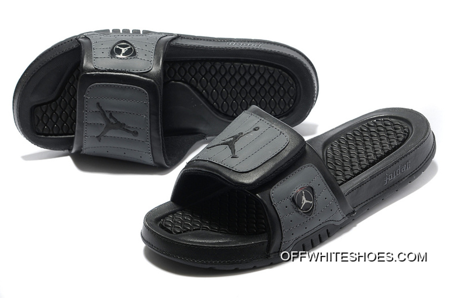 01aecafe82d8 Latest Air Jordan Hydro 14 All Black Slide Slippers