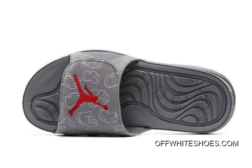 "check out ad421 f6a0d KAWS X Air Jordan 4 ""Cool Grey"" Glow In The Dark Slide Slippers Online"