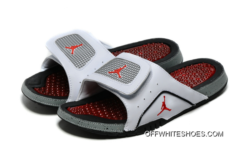 0a534d77f Jordan Hydro 4 White Cement-Grey Red New Style