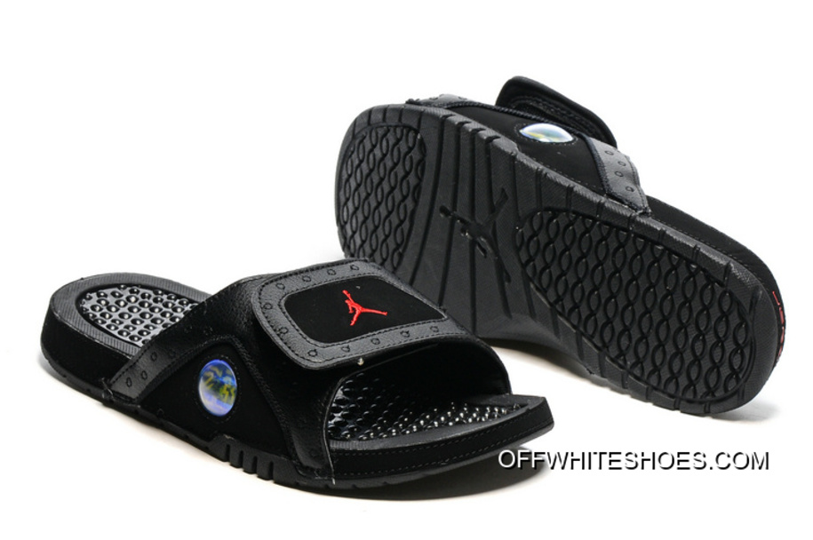 58e4eb59e5be Jordan Hydro 13 Slide Sandals Black Gym Red Super Deals