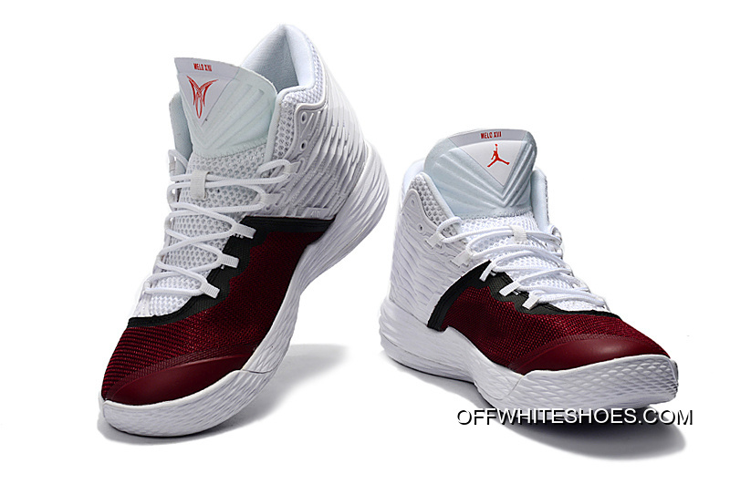 reputable site d9412 c5b15 New Jordan Melo M13 White Red Black Best
