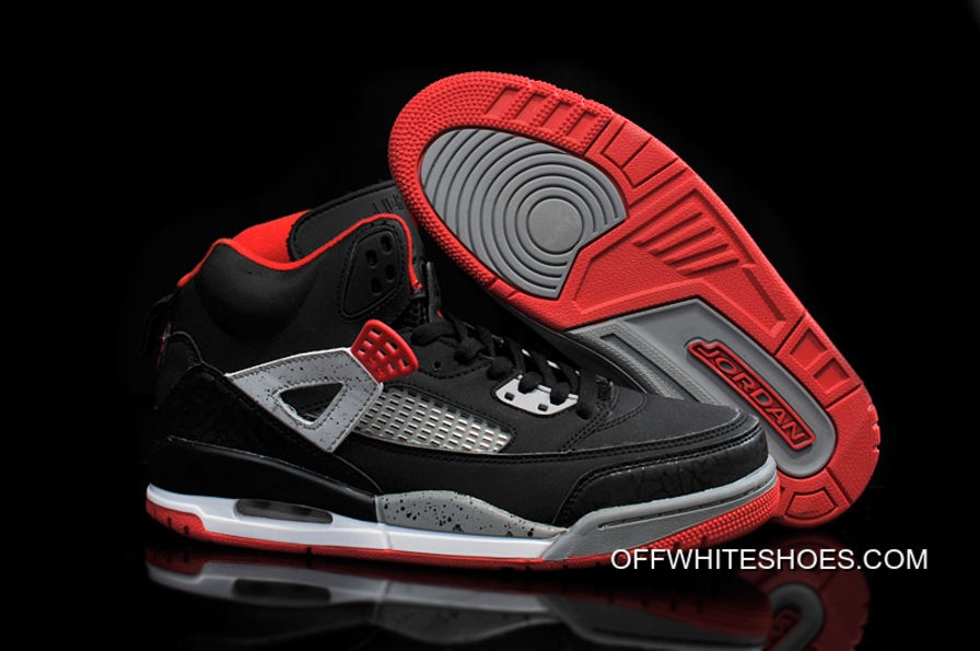 "63f5fe0fb07c New Jordan Spizike ""Bred"" Black Varsity Red-Cement Grey-White Free ..."