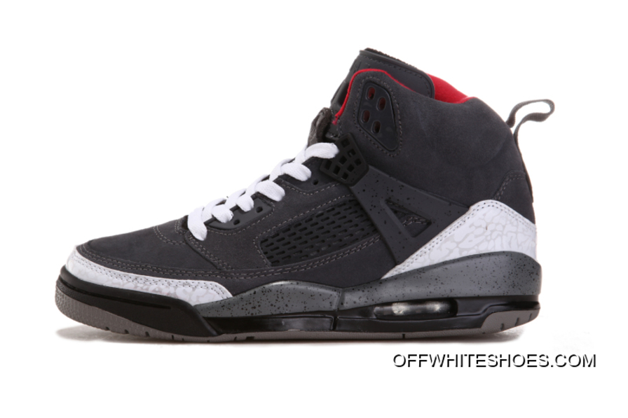 "online store be0bf a1b8b Latest New Jordan Spizike ""Cement   Nubuck"" Grey White-Gym Red"