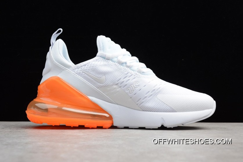 1a46ea37f5a Nike Air Max 270 White Total Orange Mens And WMNS For Sale