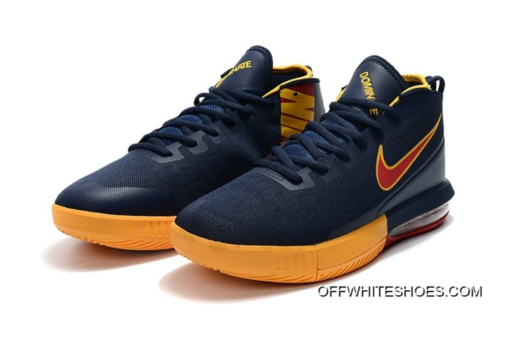 "online retailer 6ecea 945fa Free Shipping Nike Air Max Dominate EP ""Cavs"" Navy Blue Yellow-Burgundy"