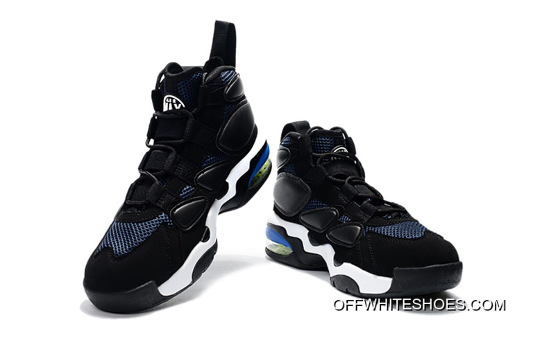 2d4eafbb67 Nike Air Max Uptempo 2 Black White Blue Online, Price: $87.89 - OFF ...
