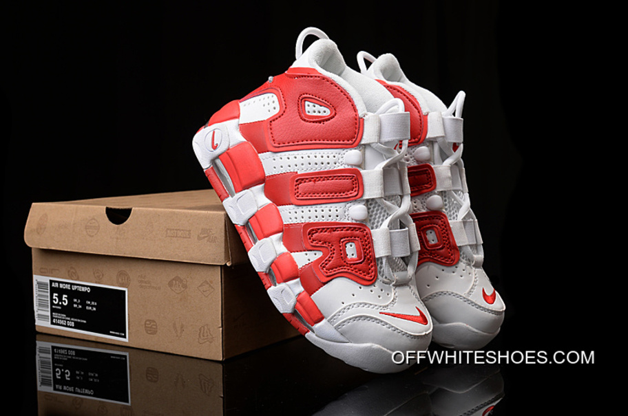 18873e0fceb2 Off-White Free Shipping Nike Air More Uptempo White Gym Red